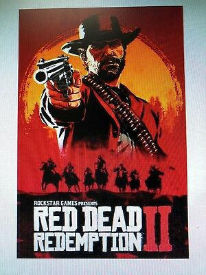 RED DEAD REDEMPTION 2 24x36 poster PLAY STATION SONY VIDEO GAMES XBOX COWBOYS!!