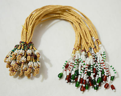 Indian Traditional Jewelry Material Necklace Macking Rope Pearl Single Dori 6 pc