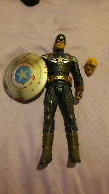 Marvel Select Captain America Figure Disney store excl. variant Winter Soldier