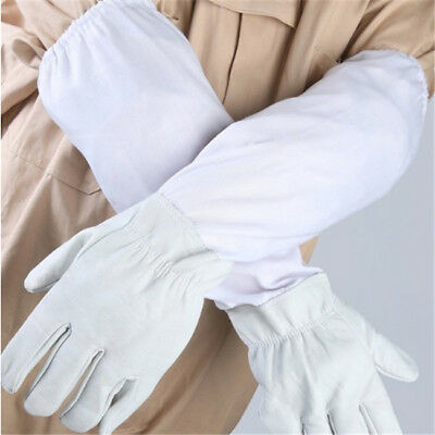 1 Pair Protective Bee Keeping Long Sleeves Beekeeping Anti-bee Gloves N7