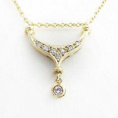 Halskette Gold 333er Diamanten Goldschmuck Collier 8 kt. Halskette Damen