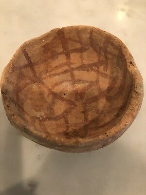 Rare Holy Land Ealy Bronze Age Painted Judean Israel Terracotta Cup 3000 BC