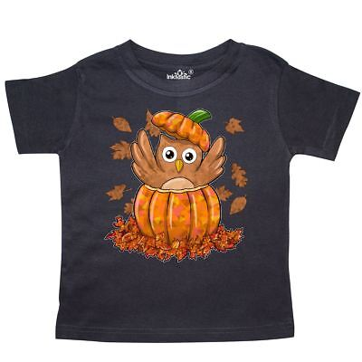 Inktastic Owl In A Pumpkin- Cute For Halloween And Thanksgiving Toddler T-Shirt