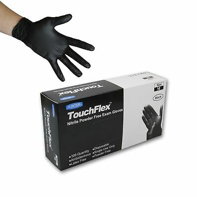 Touchflex Black Nitrile Powder Free Disposable Gloves Medical Grade TATTOO