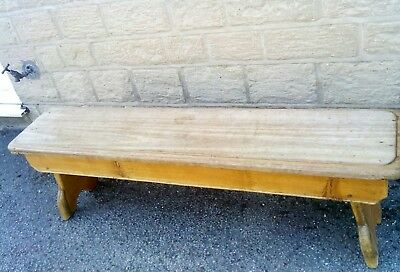 antique bench in light mahogany in a very rustic look but good condition.