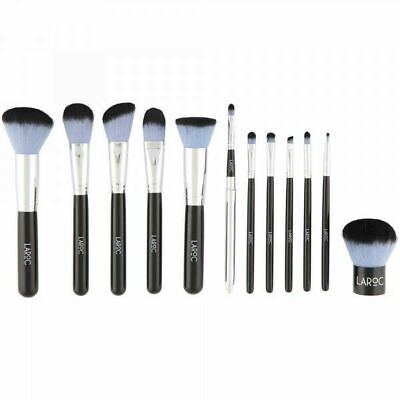 LaRoc 12 Piece Brush Set with Black Leather Bag