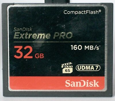 SanDisk Extreme Pro 32GB 160mb/s compact flash card.