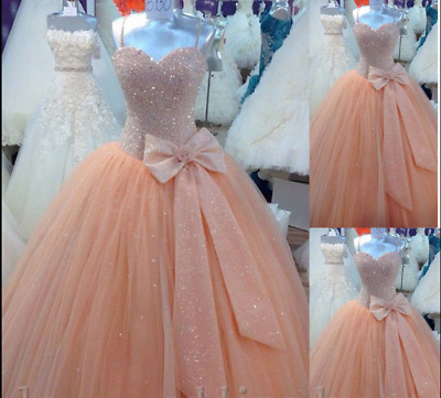 New Quinceanera Formal Prom Party Pageant Evening Ball Dress Bridal Wedding Gown