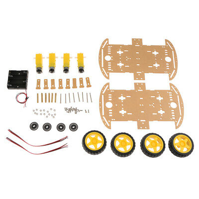 Blesiya 4WD Smart Robot Car Chassis Kits With Magneto Speed Encoder Arduino