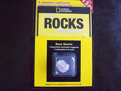 National Geographic Precious Rocks Gems & Minerals Magazine Issue 2 Rose Quartz