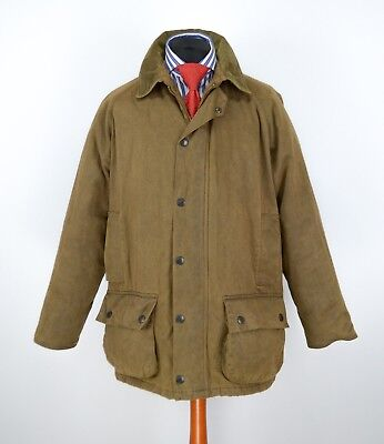 Mens Barbour Weather Worked Beaufort Jacket Size L