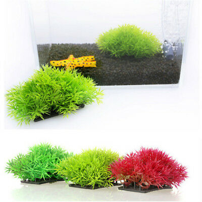 Fish Tank Aquarium Ornament Fake Plastic Water Grass Plants  Decoration LH