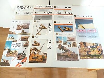 14 Coles Crane Cranes Grove Foreign International Assorted Leaflets *as Pictures