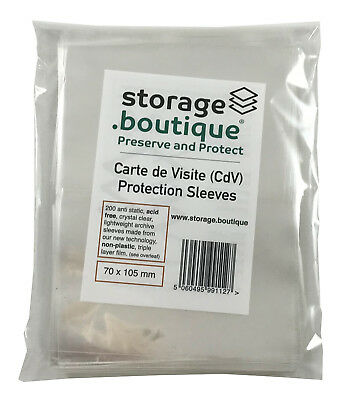 storage.boutique CdV Protection Sleeves, Crystal Clear, Acid Free, 200