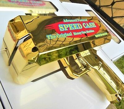 Shooting Cash Money Gun Gold Toy Guns Make It Rain Money Special edition Chrome.