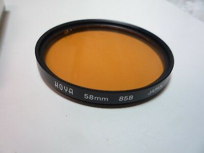 HOYA FILTER 85B  58mm Japan cleaned and checked please view all pictures