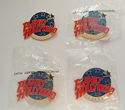 Planet Hollywood Restaurants Pins Collection Seattle Nashville San Diego NEW
