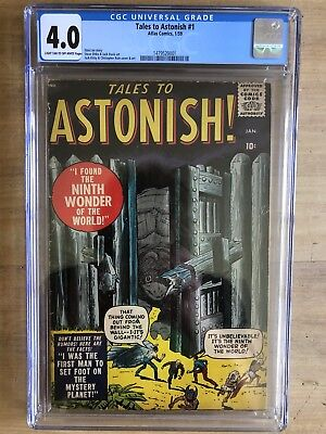 Tales to Astonish 1 Atlas Marvel Key Silver Age CGC 4.0 Light Tan/Off White Page