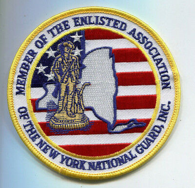 New York National Guard Enlisted Association Member Patch // Army // Military