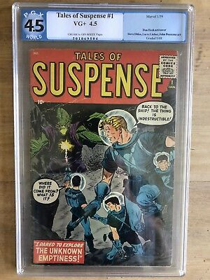 Tales of Suspense 1 Atlas Marvel Key Silver Age PGX 4.5 (like CGC) C/OW Pages