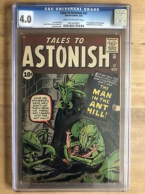 Tales to Astonish 27 Key 1st Appearance of Ant-Man CGC 4.0 C/OW Pages Red Hot!
