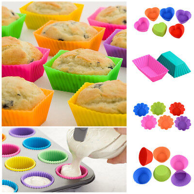 Cookie New Silicone Cake Muffin Tools Chocolate Bakeware 12pcs Baking Mold Cup