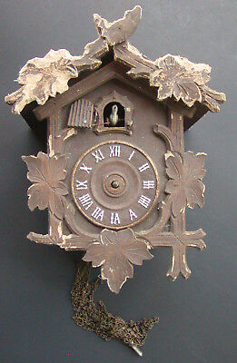 Vintage Cuckoo Clock by The Lux Clock Mfg. Co. Waterbury Connecticut - For Parts