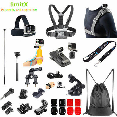 Bundle Accessories Kit Bike Chest Strap Clip Monopod Backpack for Action Camera