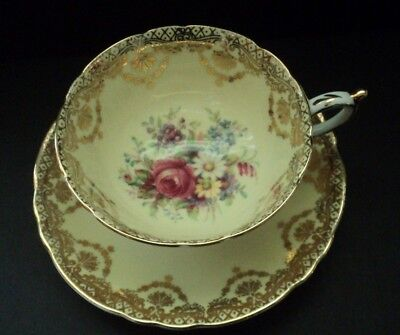 Paragon Teacup & Saucer Set - Yellow Floral England