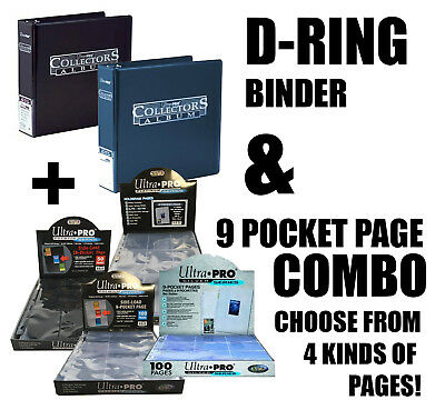 Ultra Pro Collectors Ring Album/binder & 9 Pocket Pages Silver Platinum Premium
