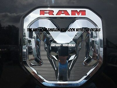"""FITS NEW 2019 ONLY Dodge """"RAM"""" Lettering 1500 Tailgate Emblem Overlay Decals"""