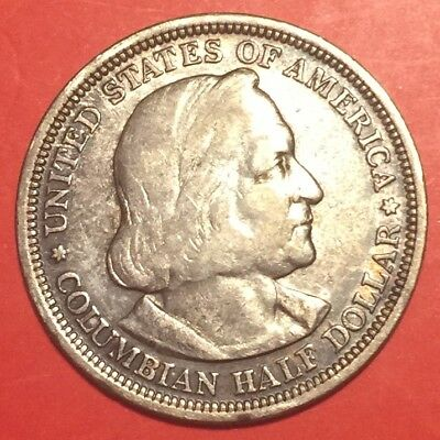 1492-1893 United States Columbia,great  memorial medal silver coin $0.50