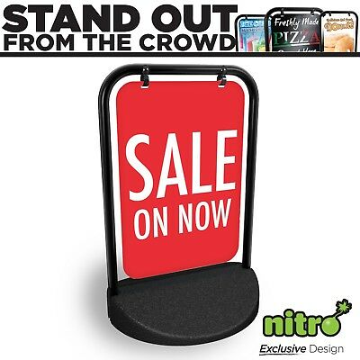 Sale On Now Swinging Pavement Sign Outdoor Display Shop Retail Grab Attention