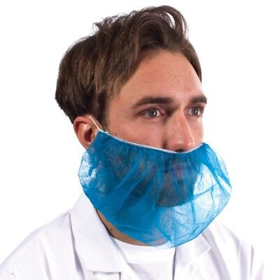Disposable Blue Beard Snood Covers Cover Catering Food Mask Hygiene Factory 100