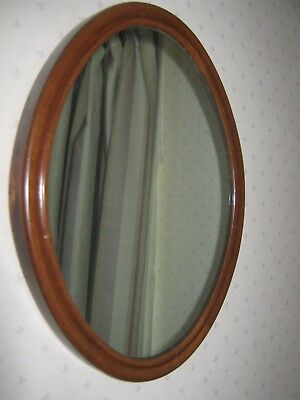Vintage Solid Wood Framed Oval Mirror Collect From Nr Aylesbury