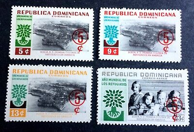 4 wonderful old stamps Dominican Republic