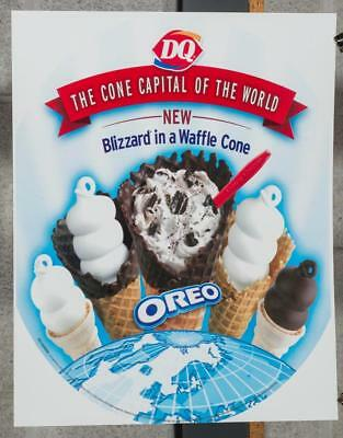 Dairy Queen Promotional Advertising Poster Oreo Blizzard Waffle Cone dq2