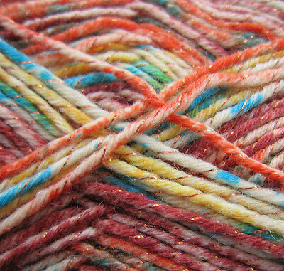Rico Design Superba Las Vegas 4ply 001 Orange Mix100g Ball