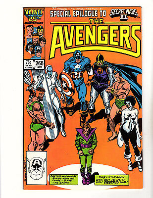 The Avengers #266 (1986, Marvel) NM- Secret Wars II Epilogue John Buscema