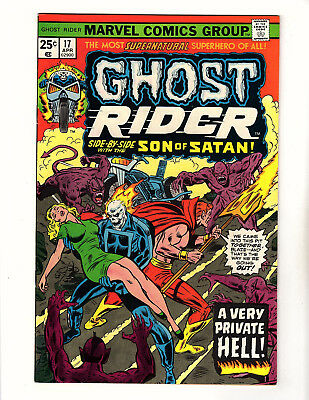 Ghost Rider #17 (1976, Marvel) VF+ Son of Satan App Tony Isabella