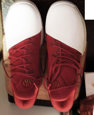 James Harden Adidas Basketball Shoes. Red and White. US Size 13.