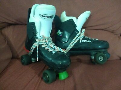 Vintage Bauer Turbo Quad Roller Boots Skates Size 11 size 44 (10?) Inners