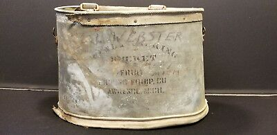 "Vintage Galvanized Fruit Picking Bucket ""Handy Picking Bucket"" Lawrence, Mich"