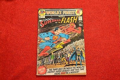 Worlds Finest Comics #198 - Race Between Superman & the Flash!! Great Comic!!