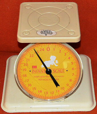 VINTAGE Sears Infant Baby Scale Weighs to 25 Pounds By Ounce NOT legal for trade