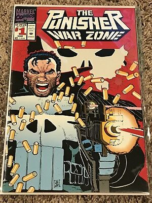 The Punisher: War Zone #1 (Mar 1992, Marvel) Near Mint Condition, Die-Cut Cover