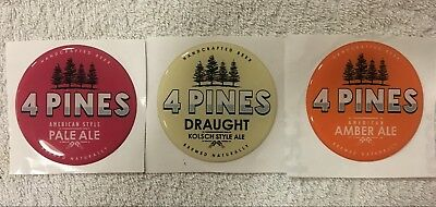 4 Pines Brewing Manly Acrylic Beer Tap Decal Dome Stickers Craft Pale Ale Amber