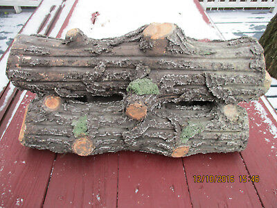 Vintage Ceramic Electric Fireplace Logs by  Strait & Richards Co. Newark N.J.