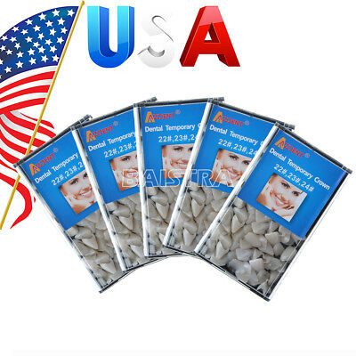 US 5X Dental Mixed Temporary Crown for Anterior Front Teeth Material 22#,23#,24#