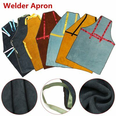 Welder Apron Protective Cowhide Clothing Thermal Protection Workwear 39''x27.5''